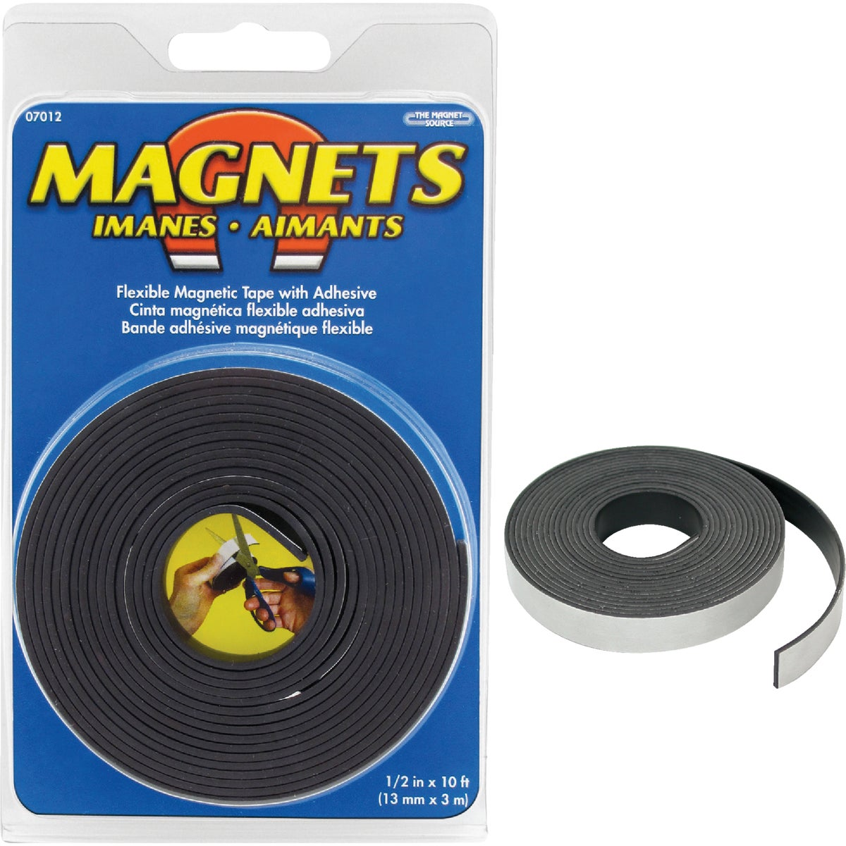 "1/2""X10' MAGNETIC TAPE - 07012 by Master Magnetics"