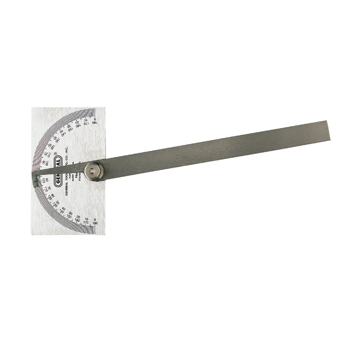 "6"" STEEL PROTRACTOR - 17 by Gen Tools Mfg"