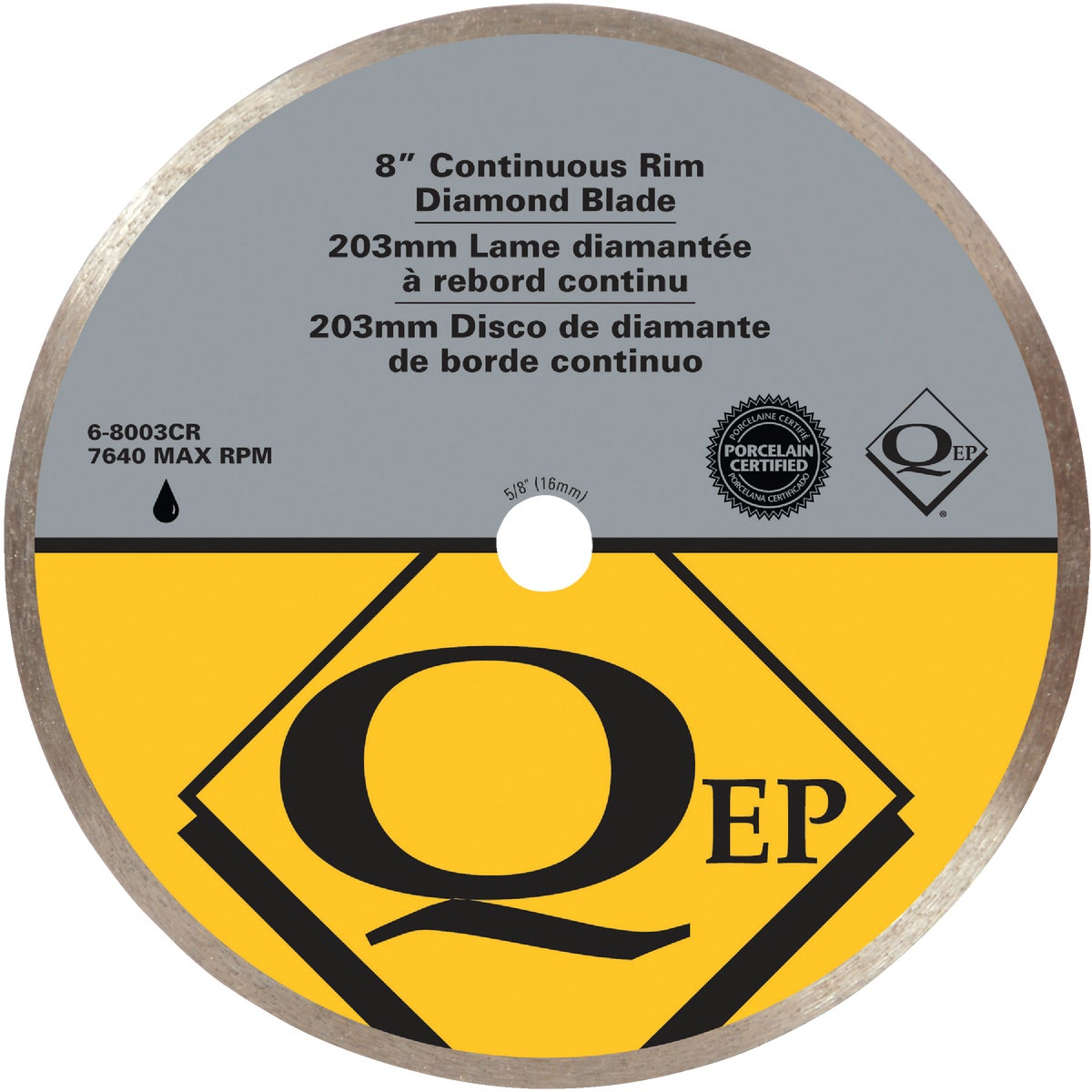 "8"" DIAMOND SAW BLADE - 6-8003Q by Qep Co Inc Roberts"