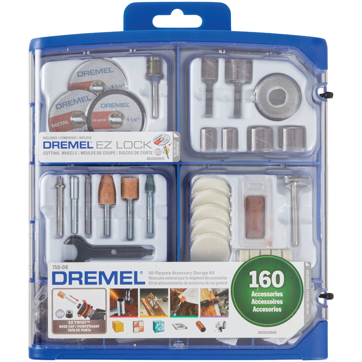 160PC MEGA ACCESSORY KIT - 710-08 by Dremel Mfg Co