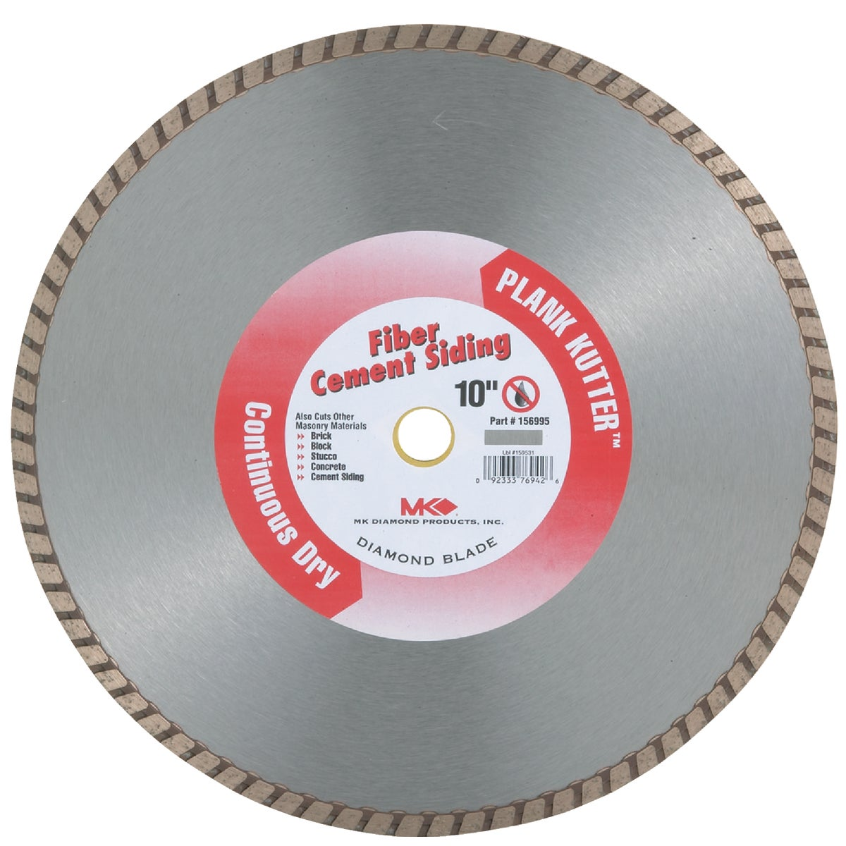 "10"" DRY DIAMOND BLADE - 156995 by M K Diamond Products"