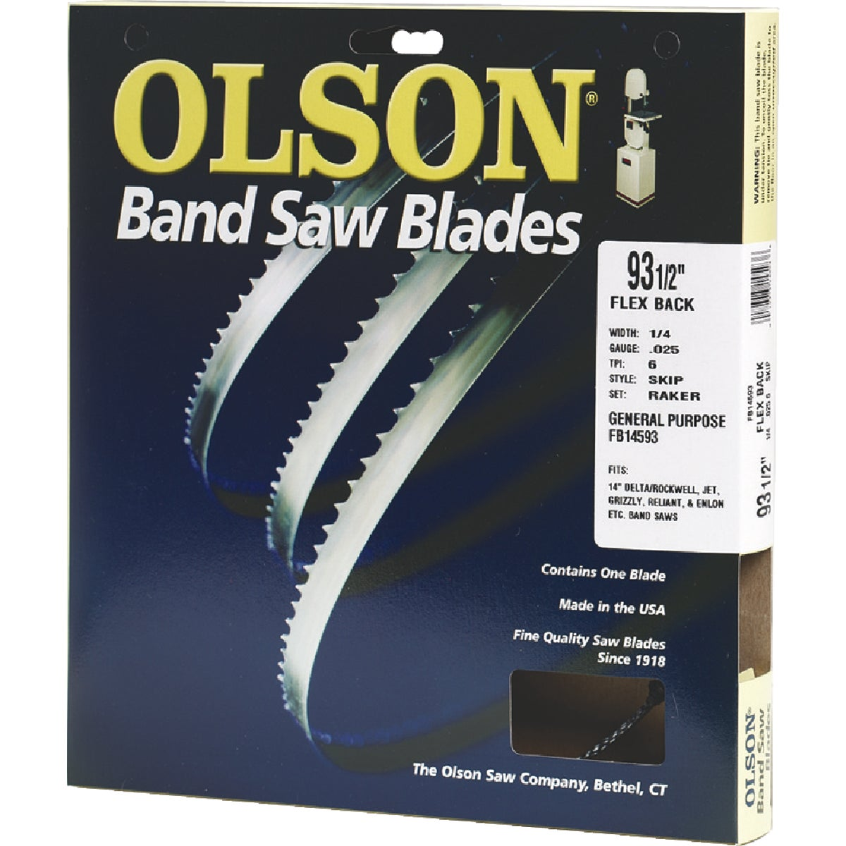"93-1/2"" BANDSAW BLADE - 08593 by Olson Saw Co"