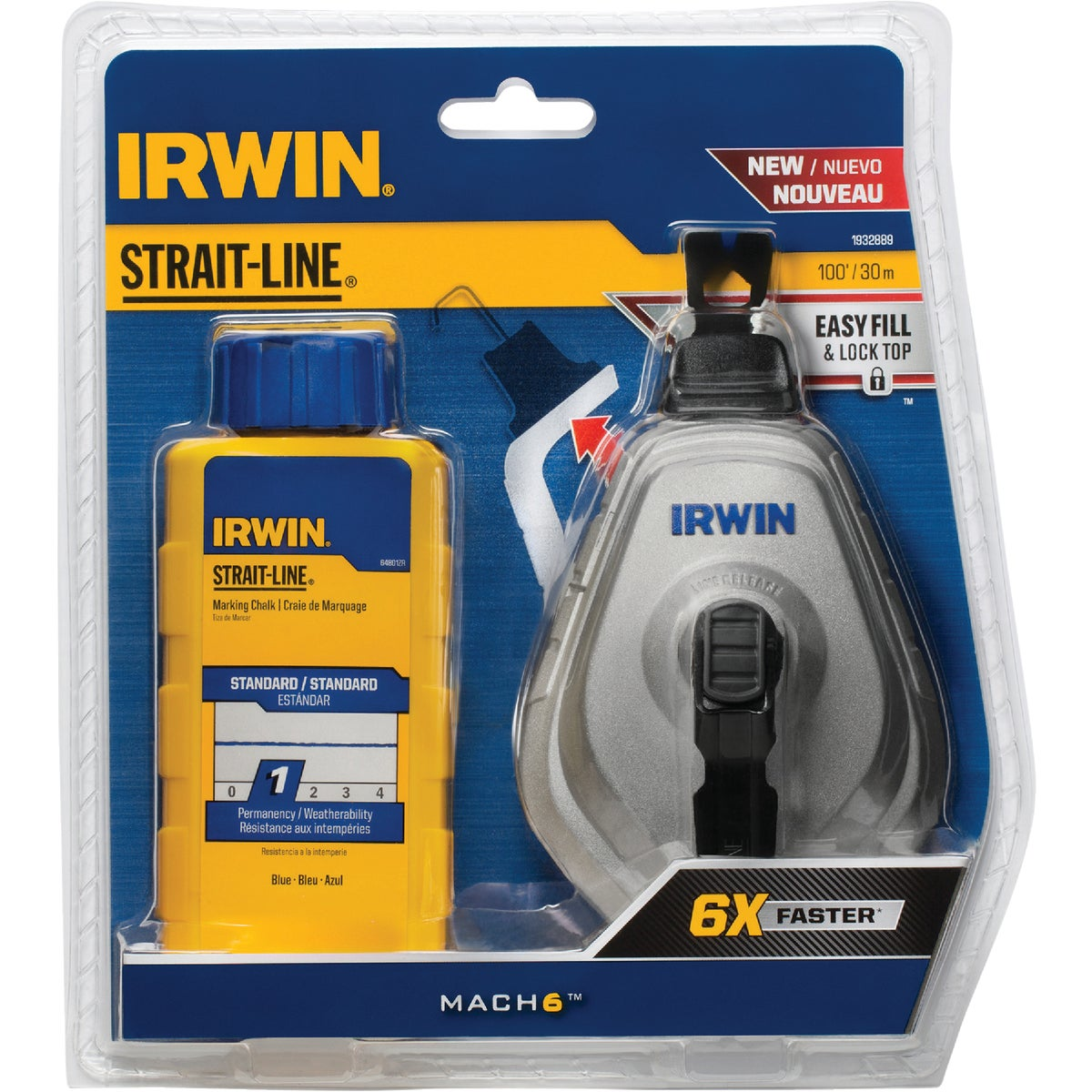 6X CHALKLINE REEL COMBO - 2031315DS by Irwin Industr Tool