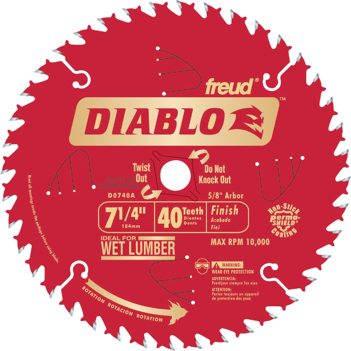 "7-1/4"" 40T SAW BLADE - D0740A by Freud Inc"