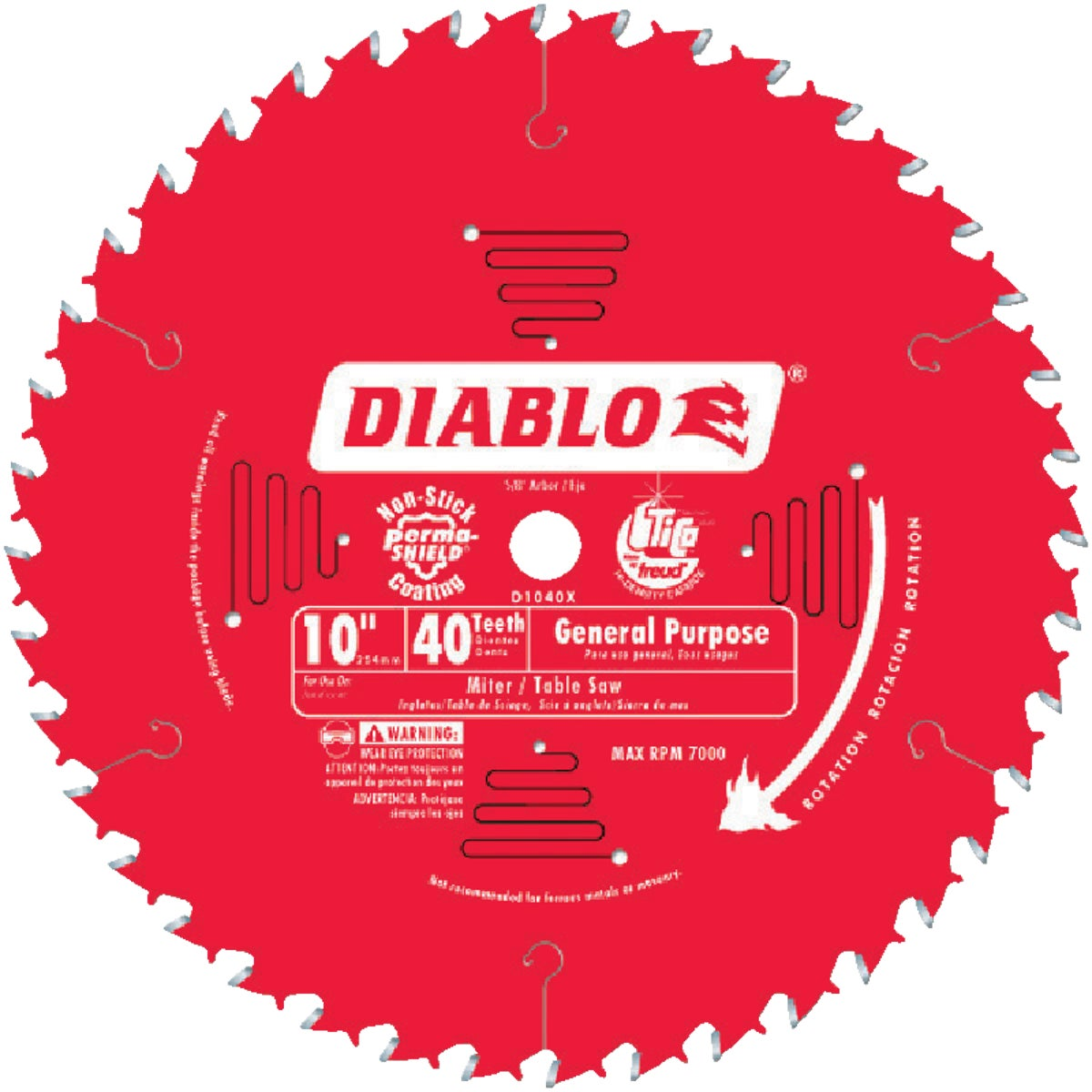 "10"" 40T SAW BLADE - D1040X by Freud Inc"