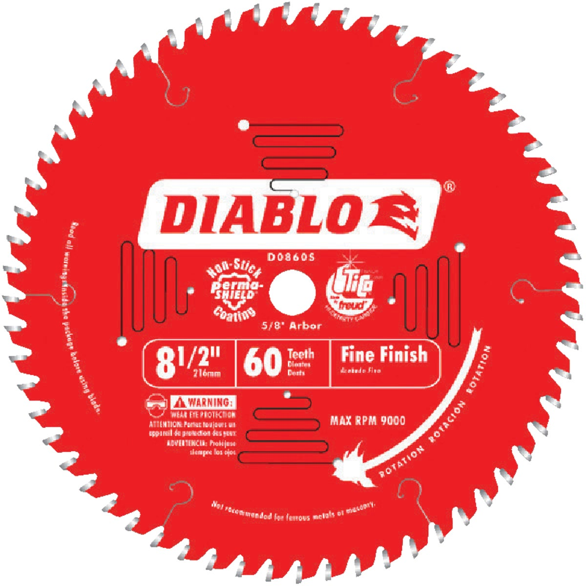 "8-1/2"" 60T SAW BLADE"