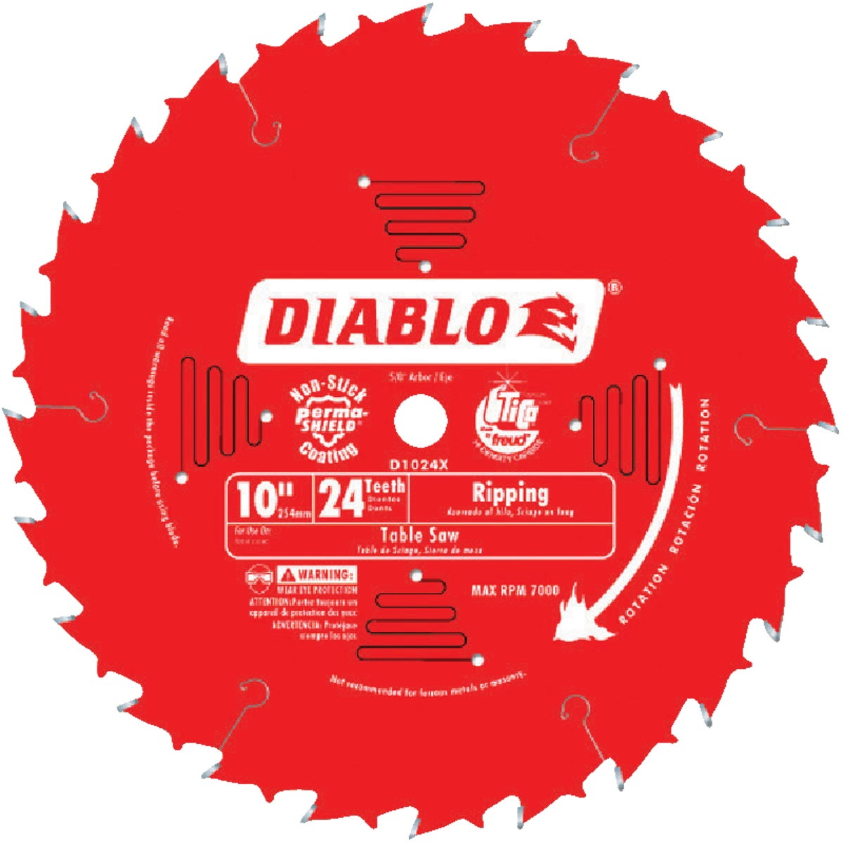 "10"" 24T SAW BLADE - D1024X by Freud Inc"