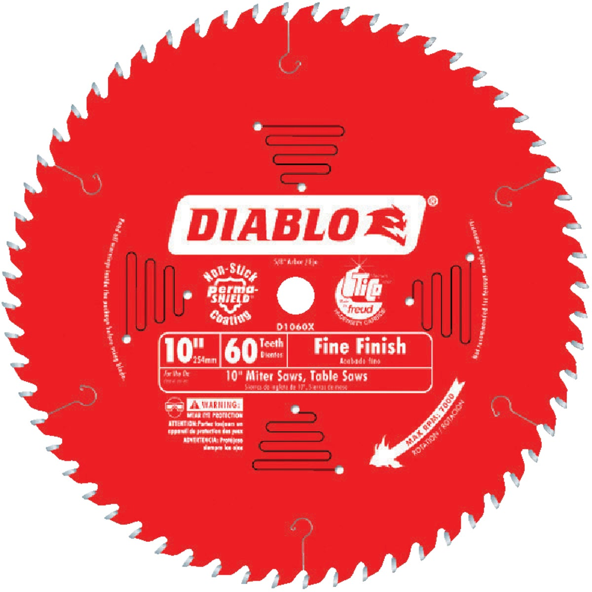 "10"" 60T SAW BLADE - D1060X by Freud Inc"