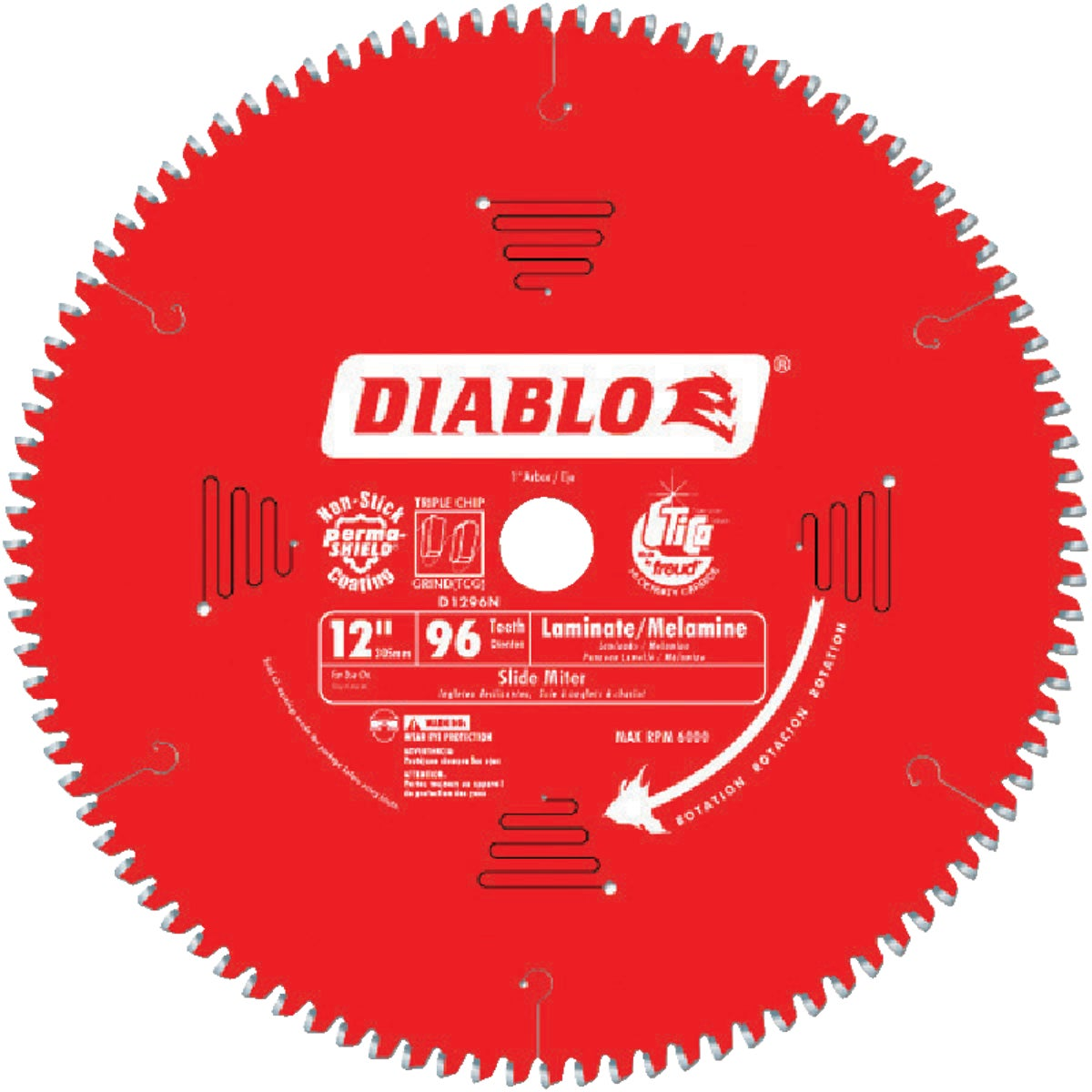 "12"" 96T SAW BLADE - D1296N by Freud Inc"