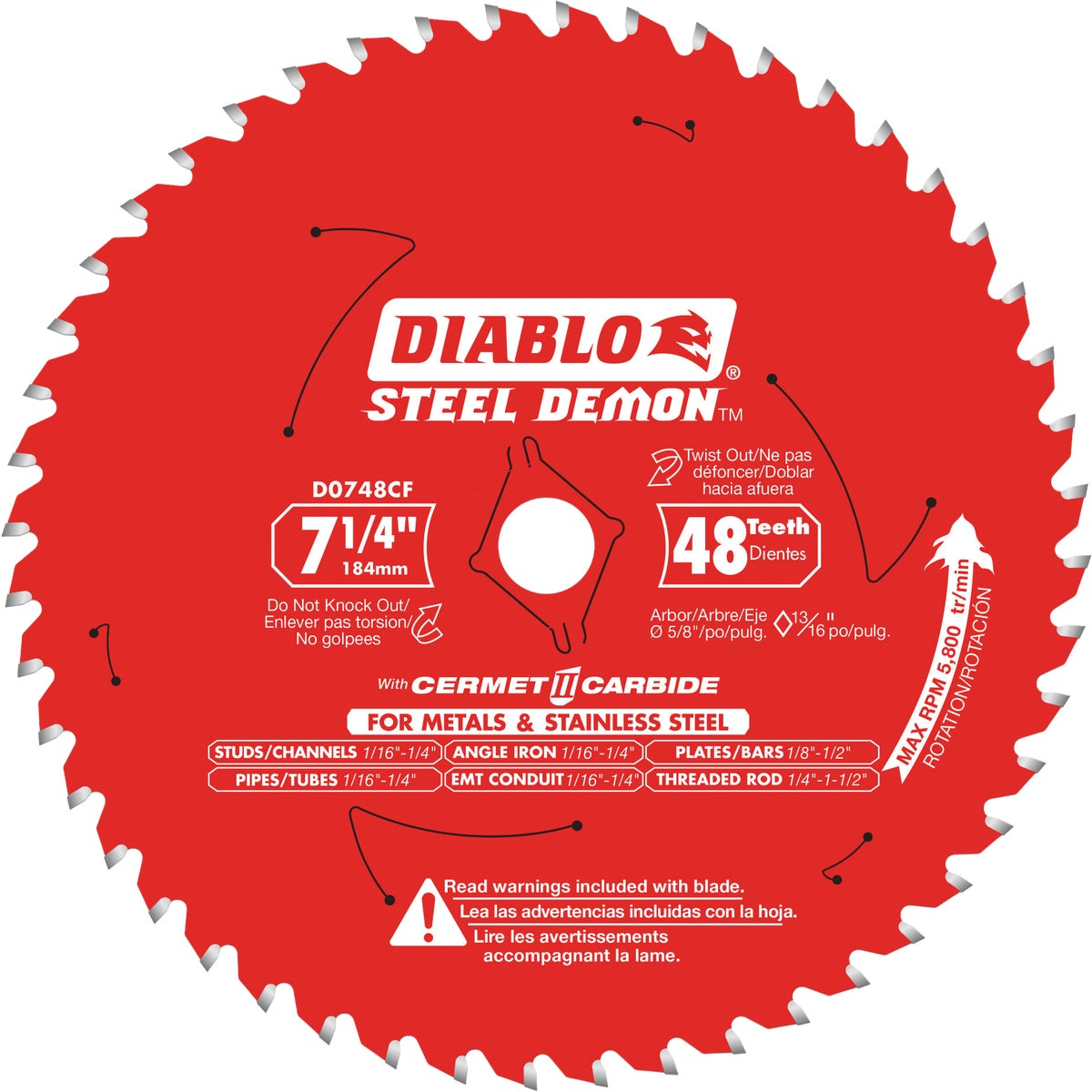 "7-1/4"" 48T SAW BLADE"