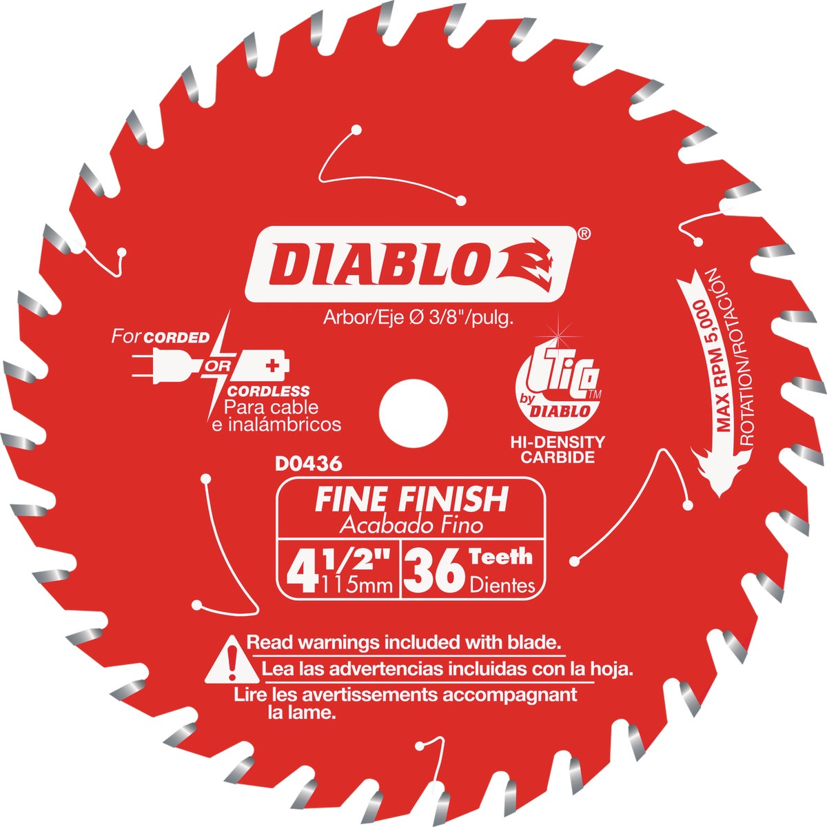 "4-3/8"" 36T SAW BLADE - D0436X by Freud Inc"