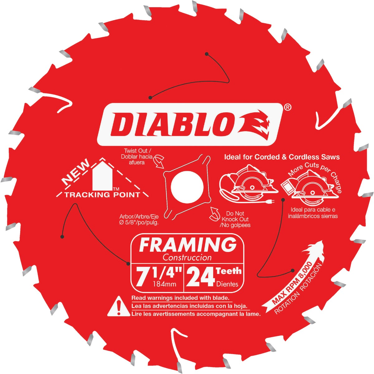 "7-1/4"" 24T SAW BLADE - D0724X by Freud Inc"