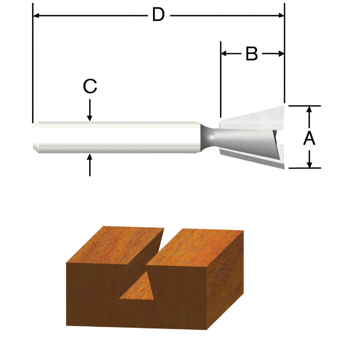 "3/8"" DOVETAIL ROUTER BIT - 23113 by Vermont American"