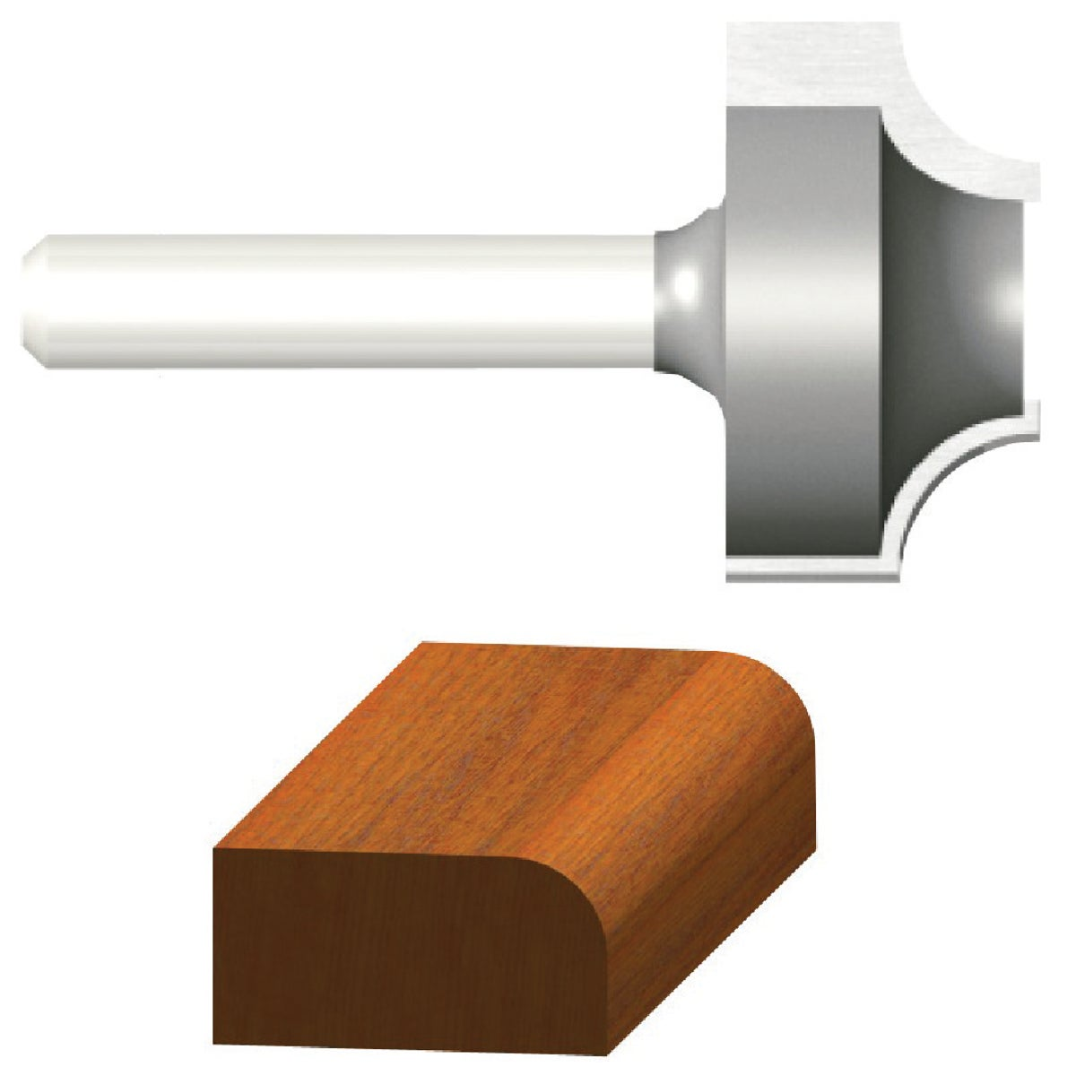 """1/4"""" OVOLO ROUTER BIT - 23128 by Vermont American"""