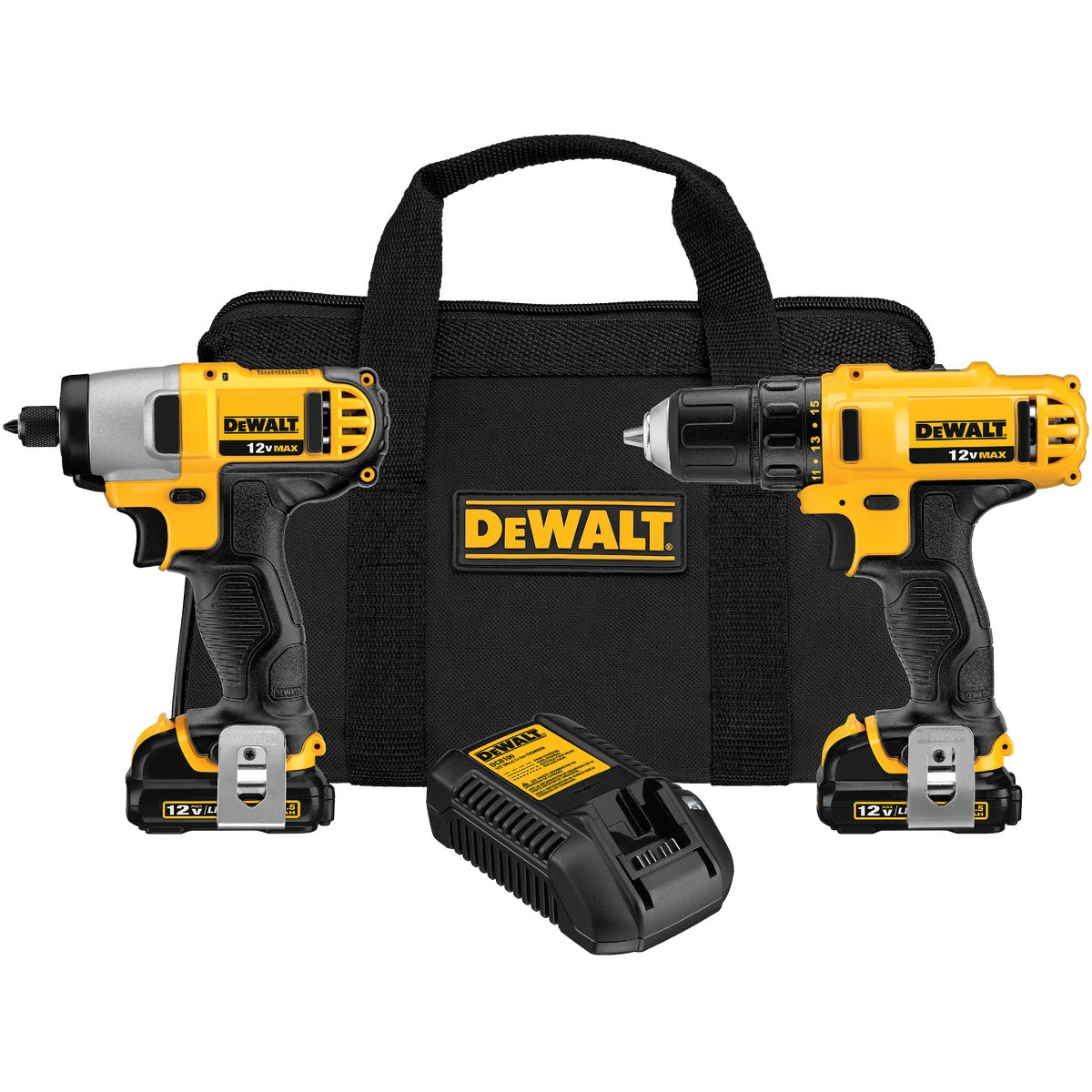 12V DRILL/IMPACT KIT - DCK211S2 by DeWalt