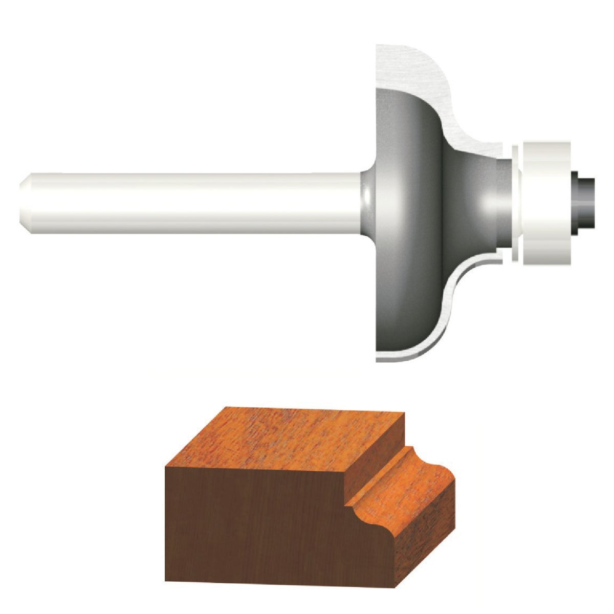 """3/16"""" OGEE ROUTER BIT - 23145 by Vermont American"""