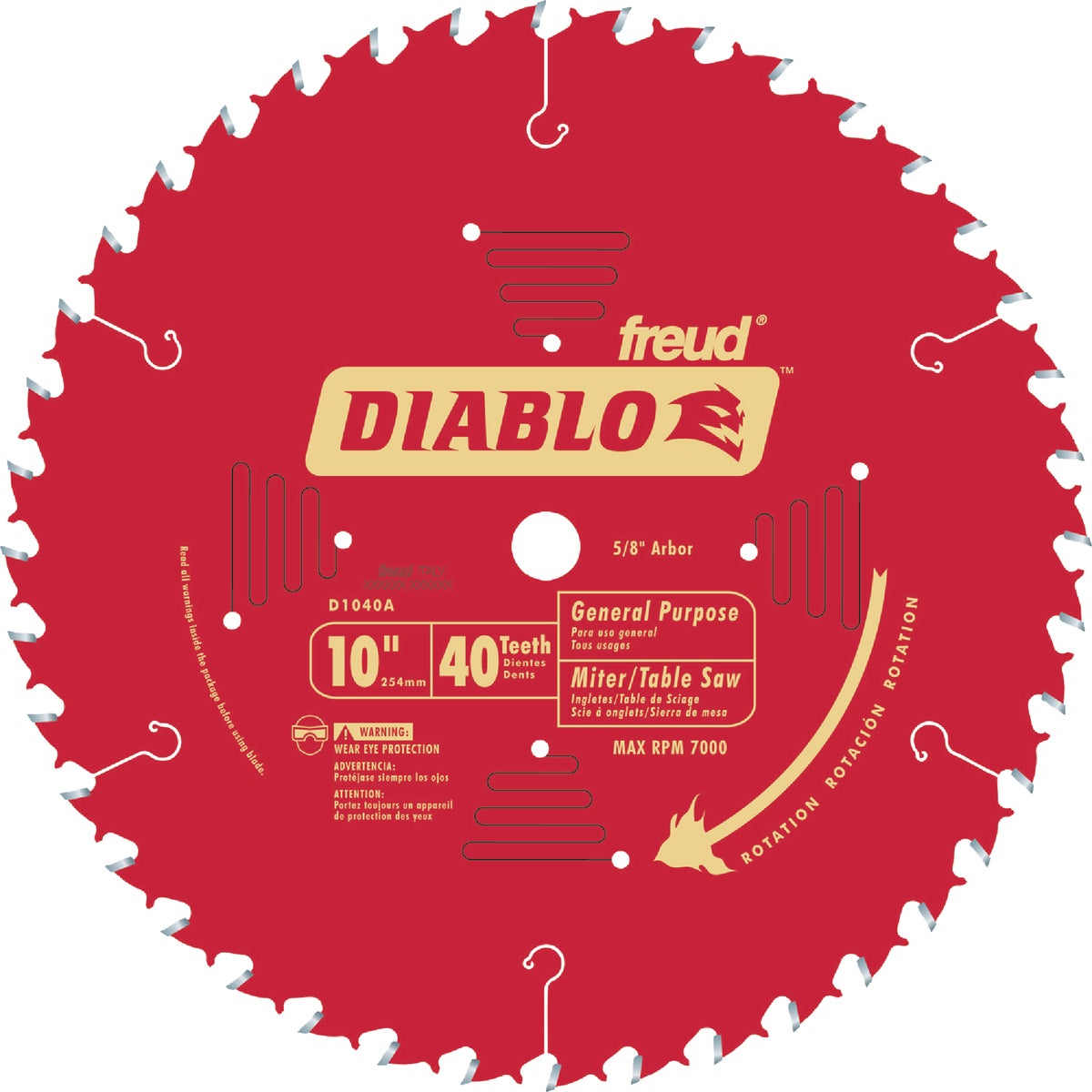 "10"" 40T SAW BLADE - D1040A by Freud Inc"