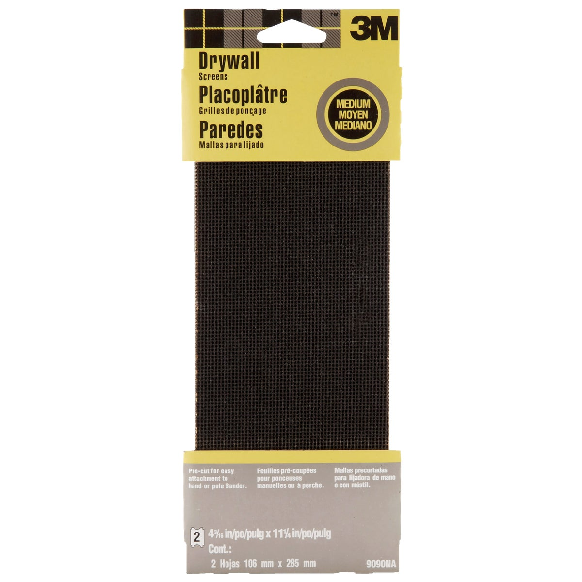 3M Medium Grade 4-3/16 In. x 11-1/4 In. Precut Drywall Sanding Screen (2-Pack)