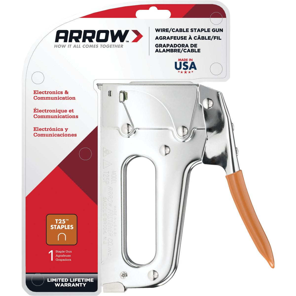 H/D CABLE STAPLE GUN - T25 by Arrow Fastener Co