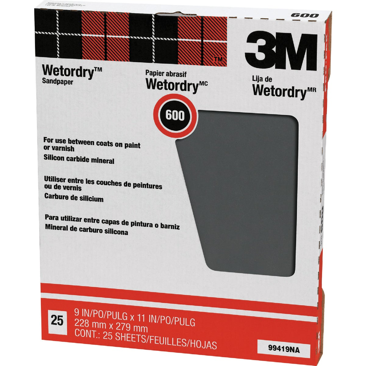 600A WET/DRY SANDPAPER - 99419NA by 3m Co
