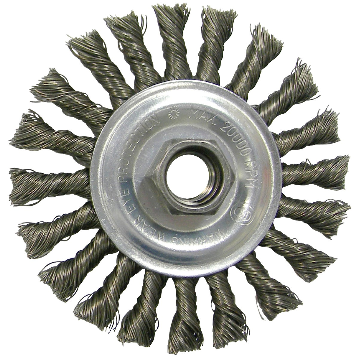 "4"" KNOT WIRE WHEEL - 36055 by Weiler Corporation"
