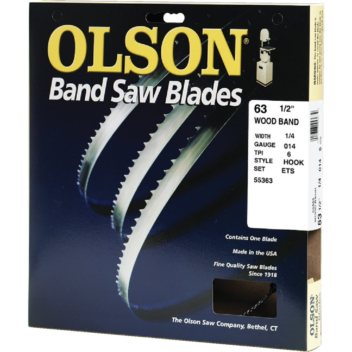 "63-1/2"" X 1/4"" 6T BLADE - WB55363BL by Olson Saw Co"