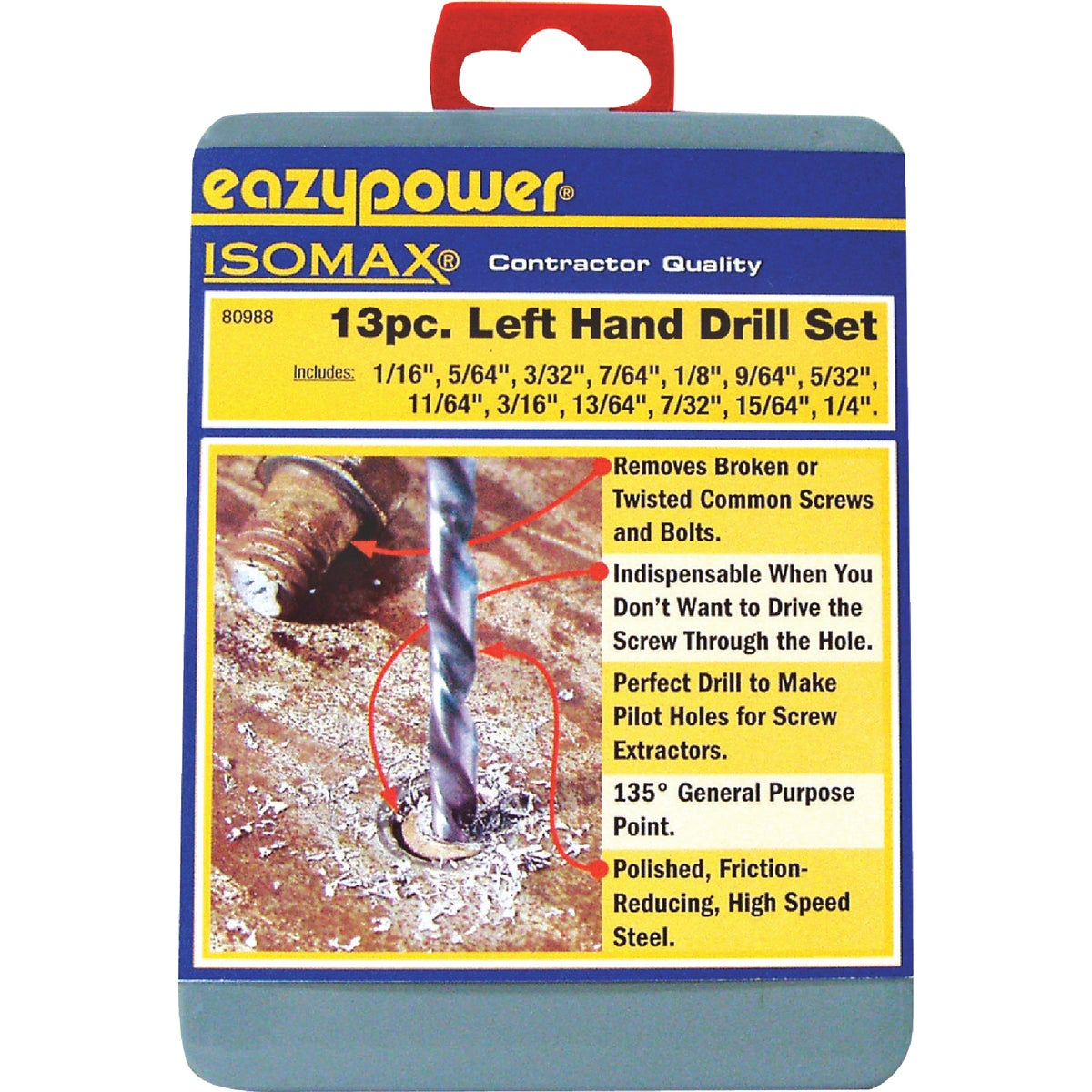 13PC LEFT HAND BIT SET - 80988 by Eazypower Corp