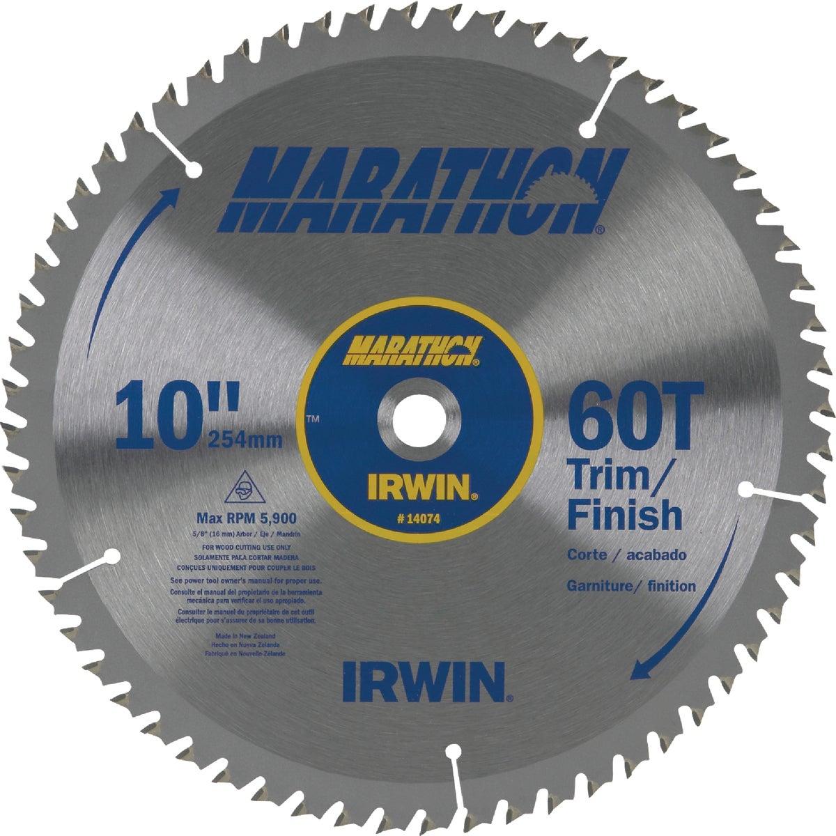 "10"" 60T MARATHON BLADE - 14074 by Irwin Industr Tool"
