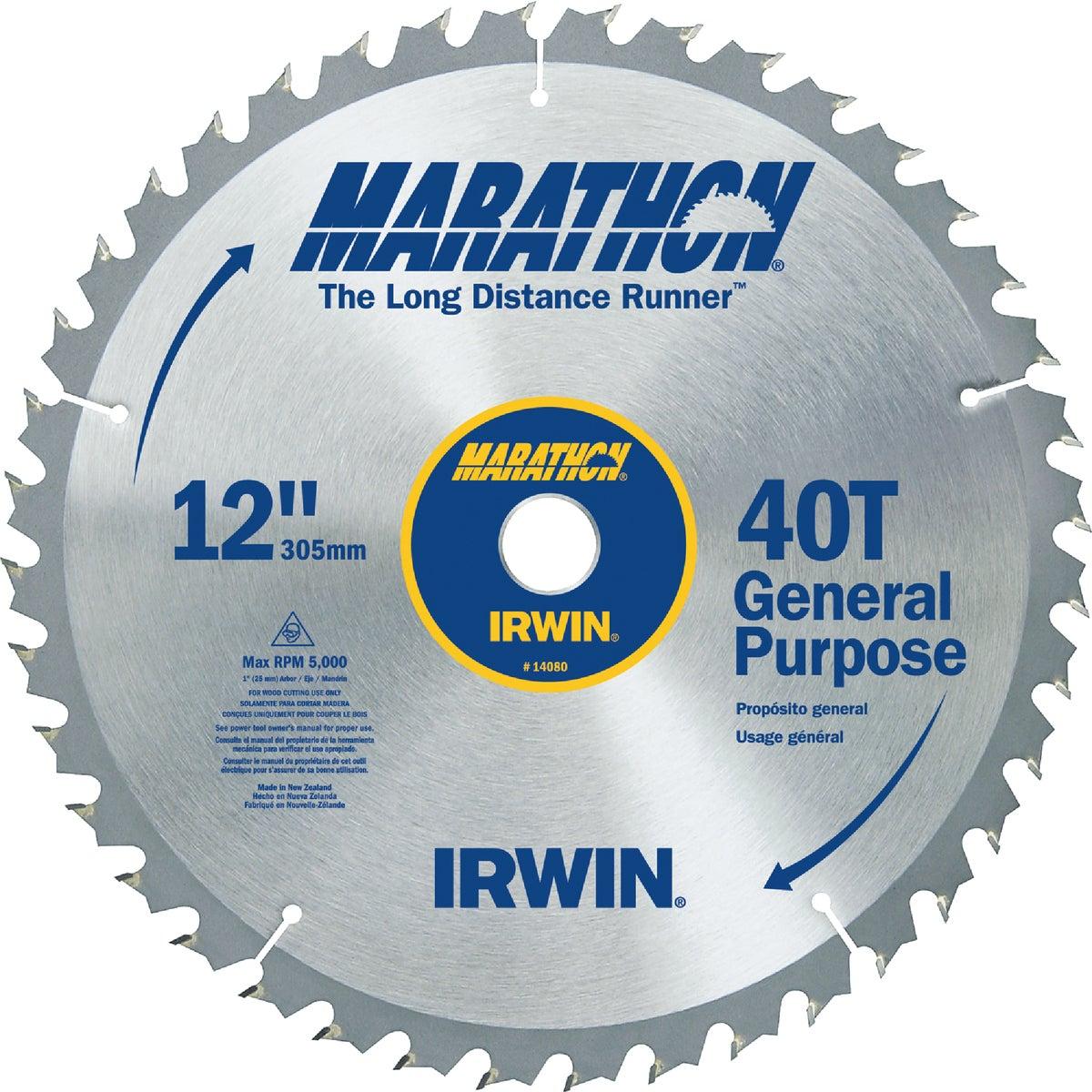 "12"" 40T MARATHON BLADE - 14080 by Irwin Industr Tool"