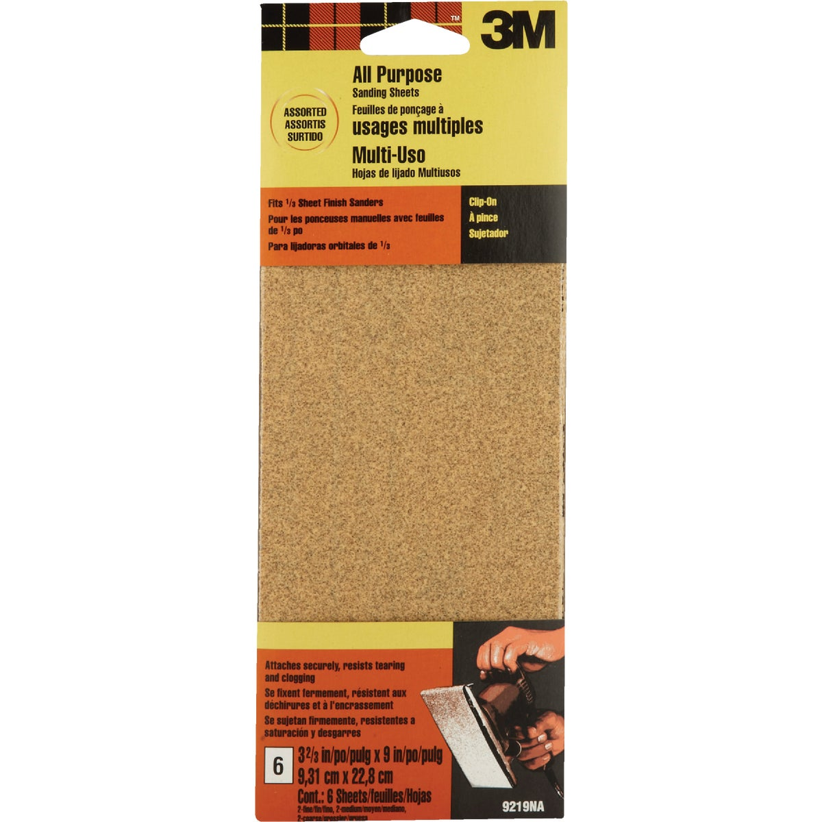 AST 1/3SHT SANDING SHEET - 9219 by 3m Co
