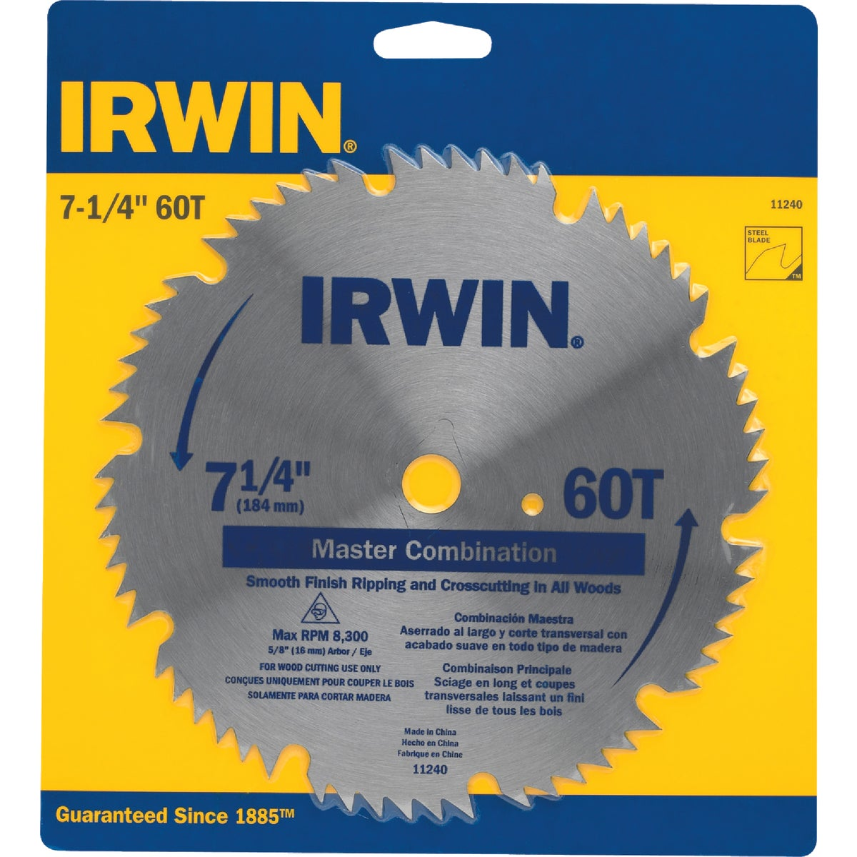 "7-1/4""SMOOTH COMB BLADE - 11240 by Irwin Industr Tool"