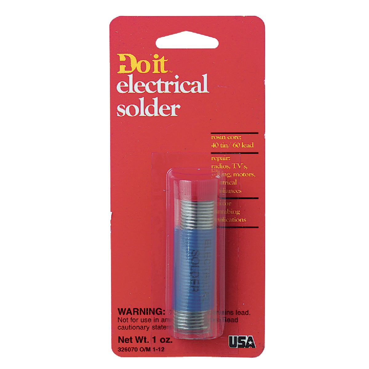 1OZ 40/60 RC SOLDER - 326070 by Oatey S C S