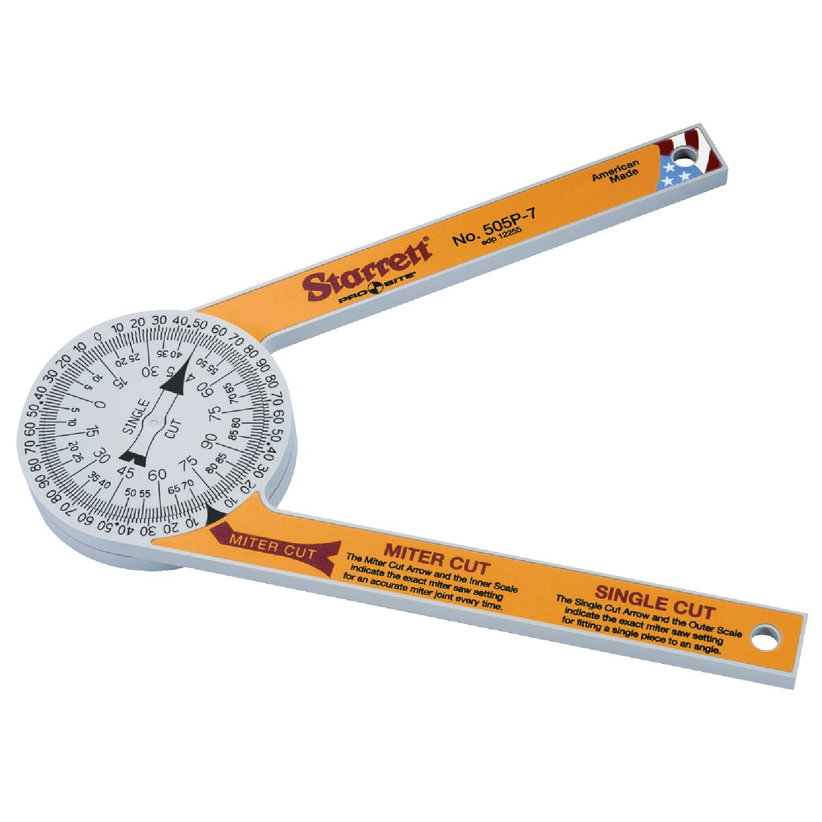 "PROSITE 7"" PROTRACTOR - 505P-7 by Starrett L S Co"
