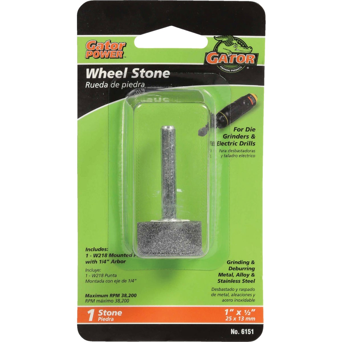 1X1/2 WHL GRINDING STONE - 6151 by Ali Industries Inc