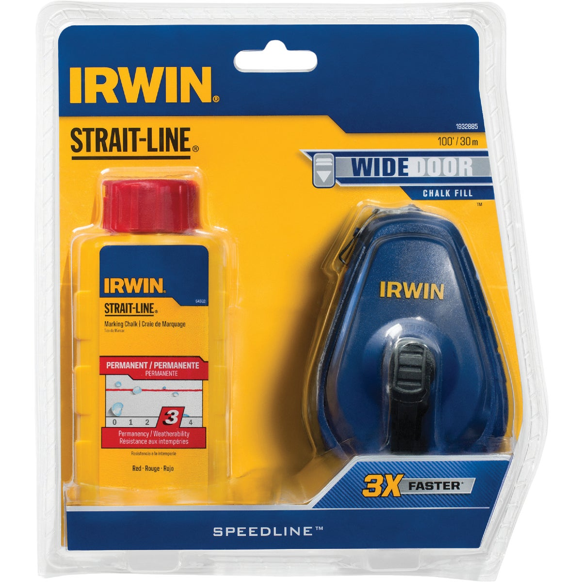 100' RED CHALK REEL - 64495 by Irwin Industr Tool