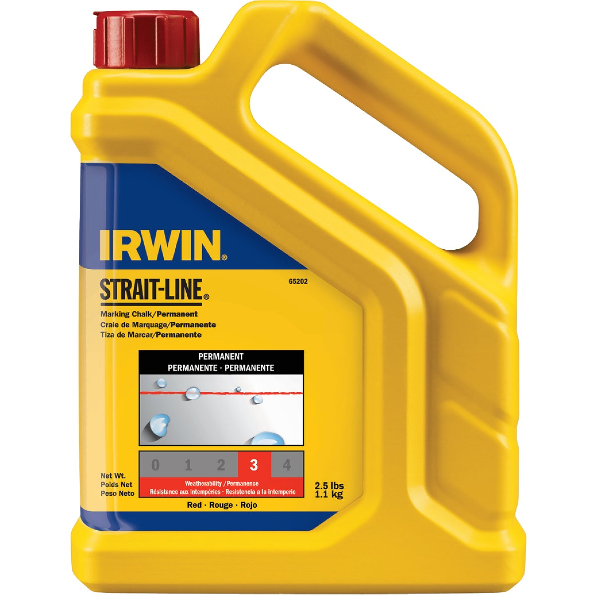 2.5LB RED CHALK - 65202 by Irwin Industr Tool