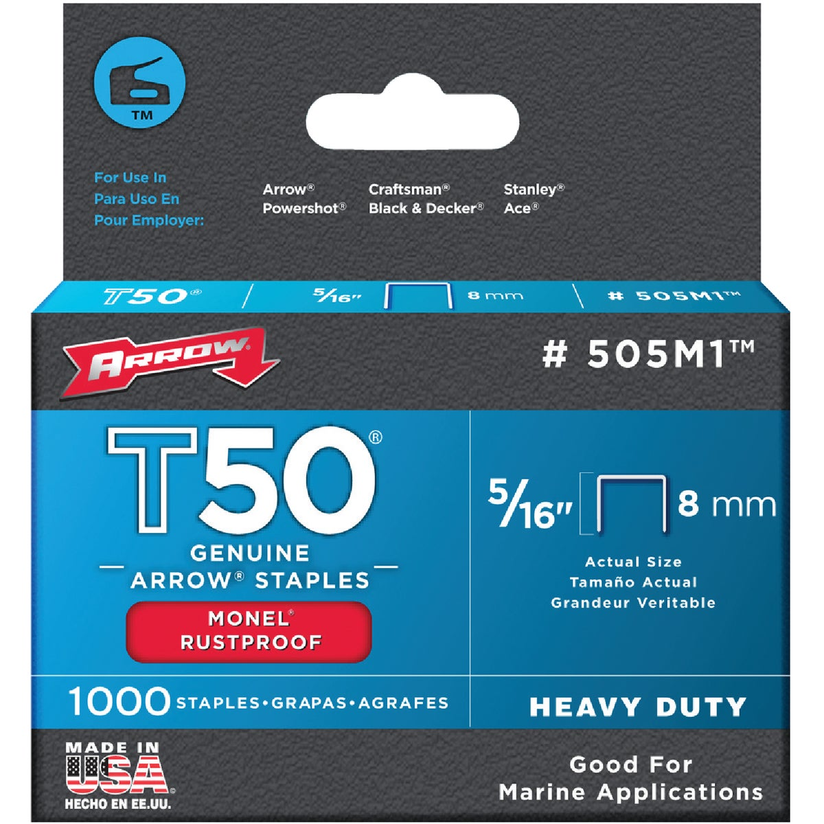 "5/16"" MONEL STAPLE - 505M1 by Arrow Fastener Co"