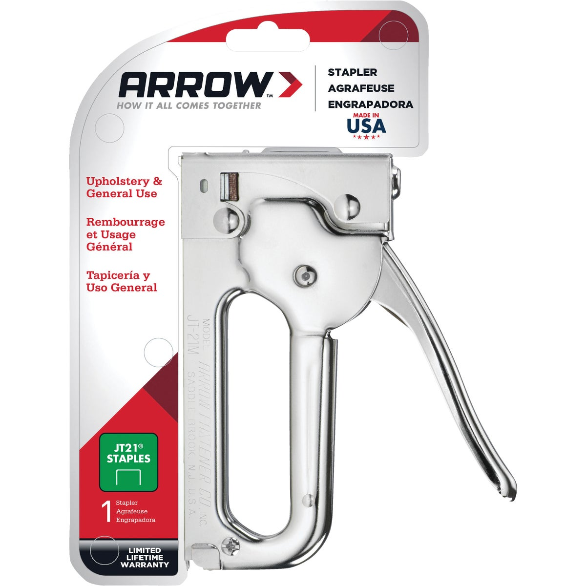 STAPLE GUN TACKER - JT21CM by Arrow Fastener Co