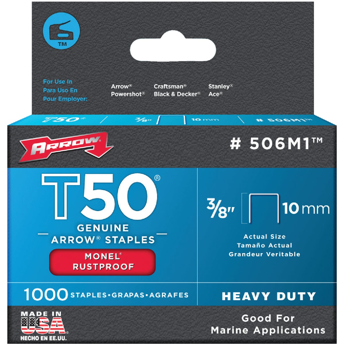 "3/8"" MONEL STAPLE - 506M1 by Arrow Fastener Co"