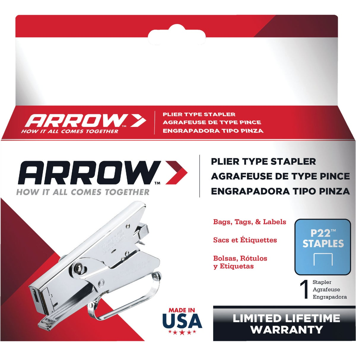 PLIER STAPLER - P22 by Arrow Fastener Co
