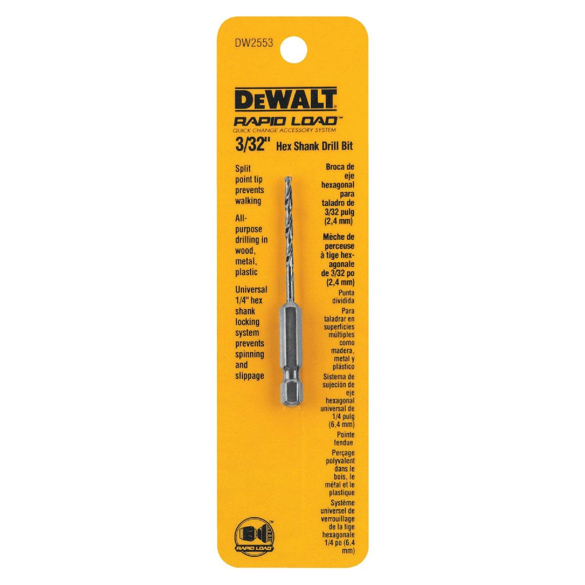 """3/32"""" DRILL BIT - DW2553 by DeWalt"""