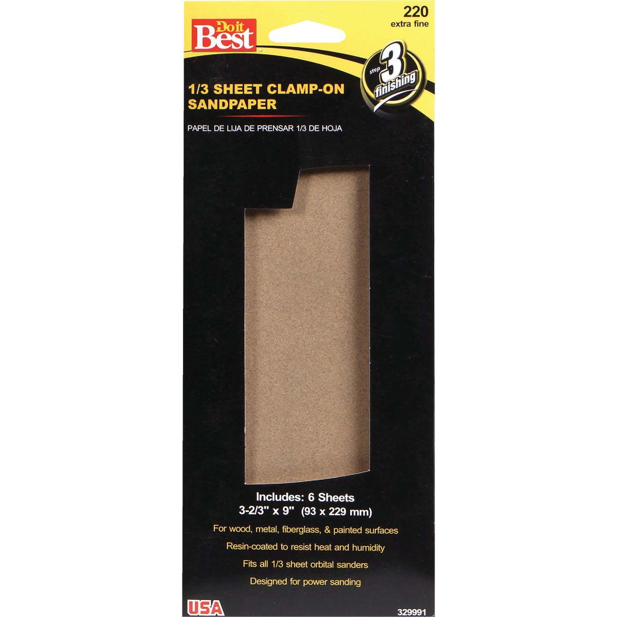 XFINE 1/3SHT SANDPAPER - 329991 by Ali Industries Inc