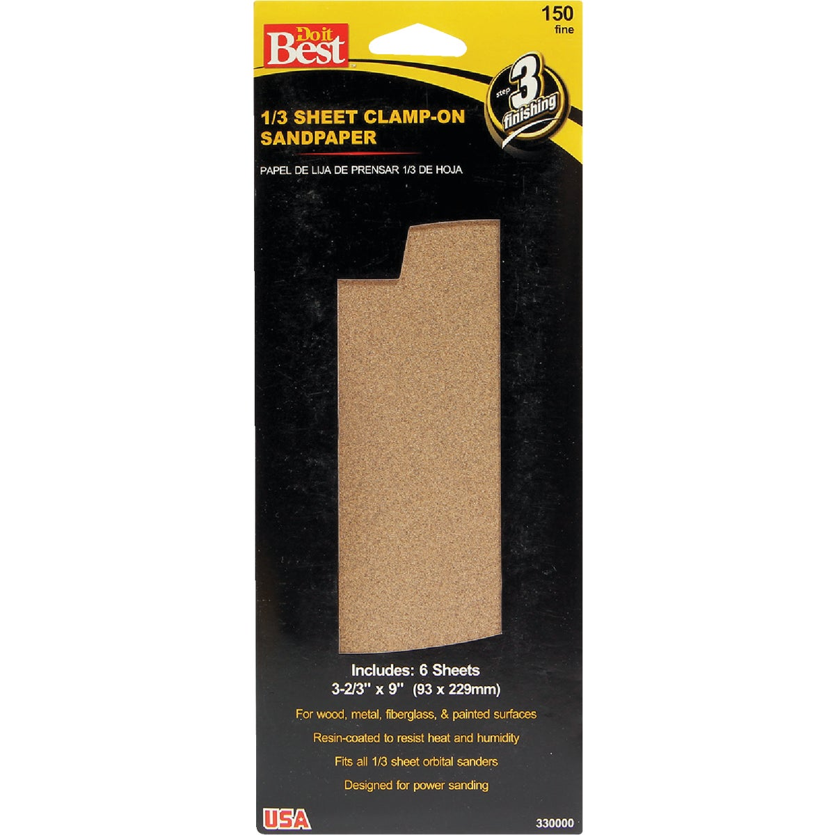 FINE 1/3SHT SANDPAPER - 330000 by Ali Industries Inc