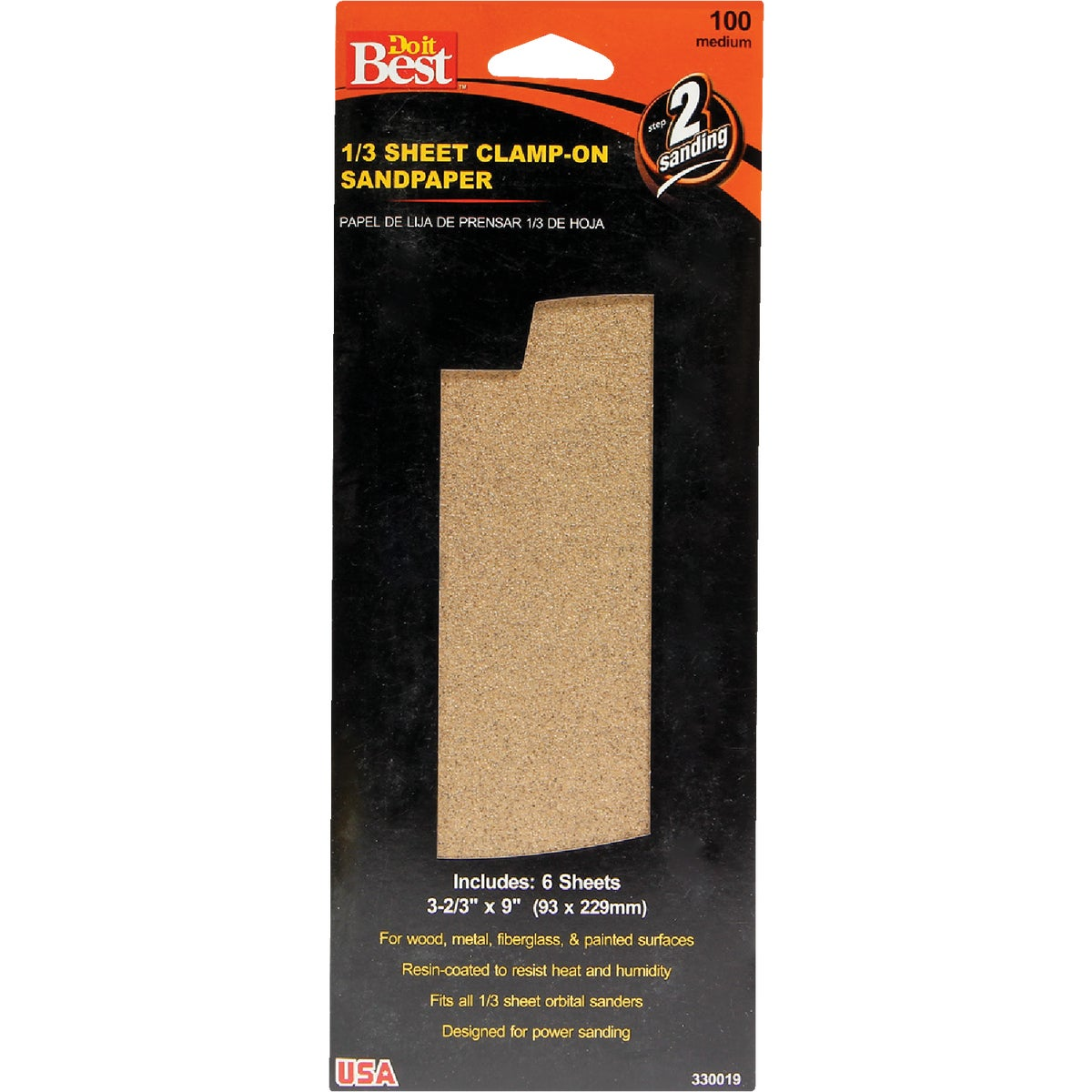 MEDIUM 1/3SHT SANDPAPER