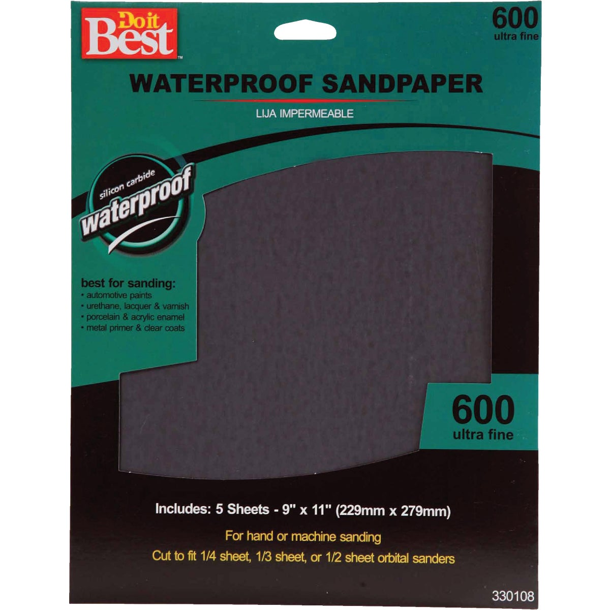5PK UFINE WET SANDPAPER - 330108 by Ali Industries Inc