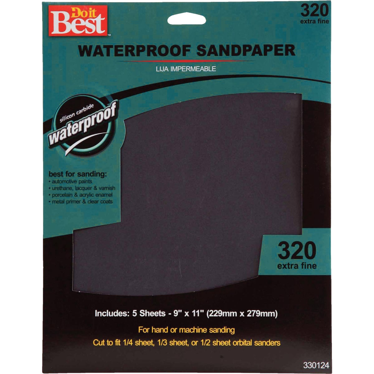 5PK XFINE WET SANDPAPER - 330124 by Ali Industries Inc