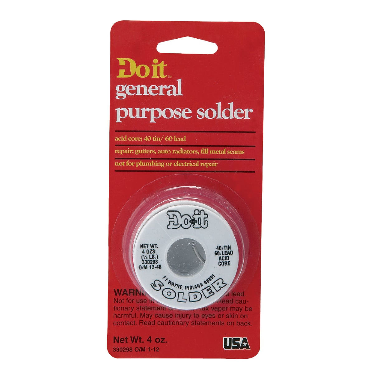Do-It/Oatey 1/4LB 40/60 AC SOLDER 330298