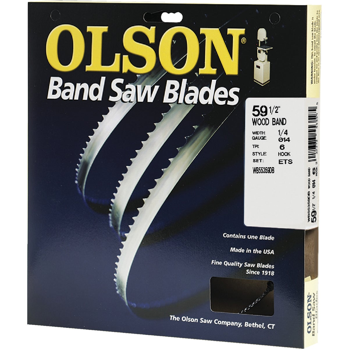 "59-1/2"" BANDSAW BLADE - 55359 by Olson Saw Co"