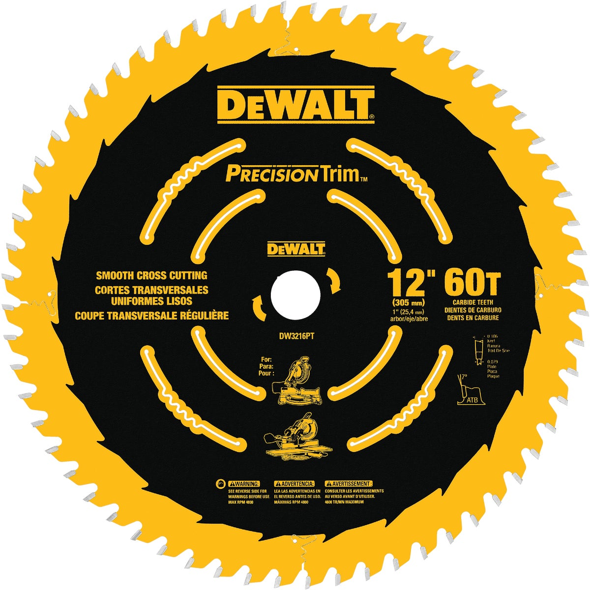 "12"" 60T COATED BLADE - DW3216PT by DeWalt"
