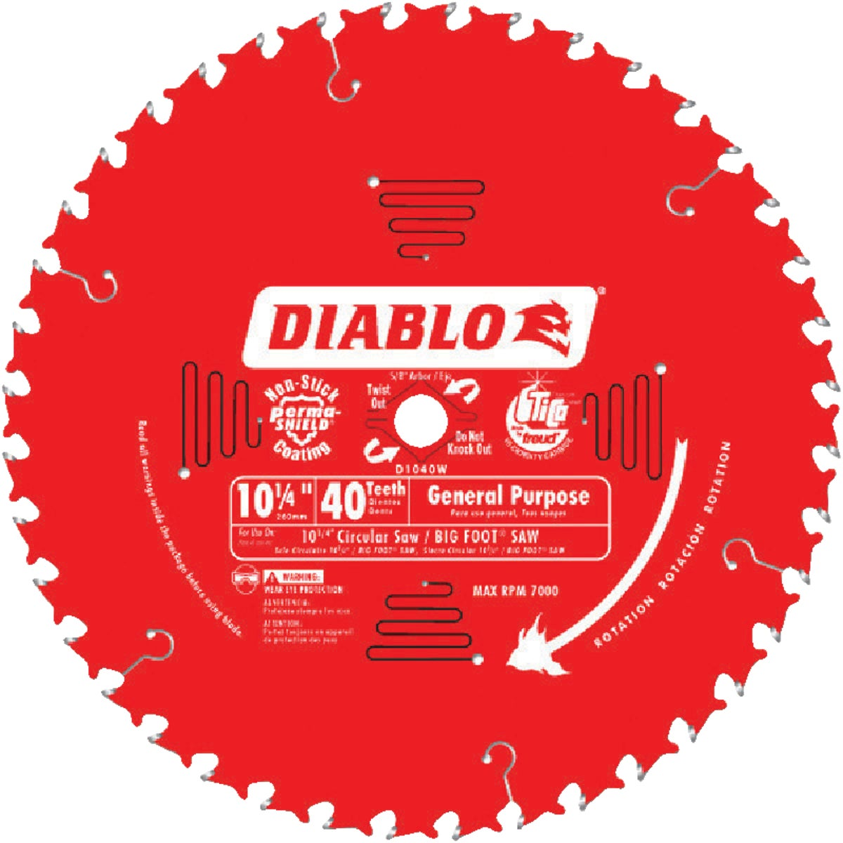 "10-1/4"" 40T SAW BLADE - D1040W by Freud Inc"